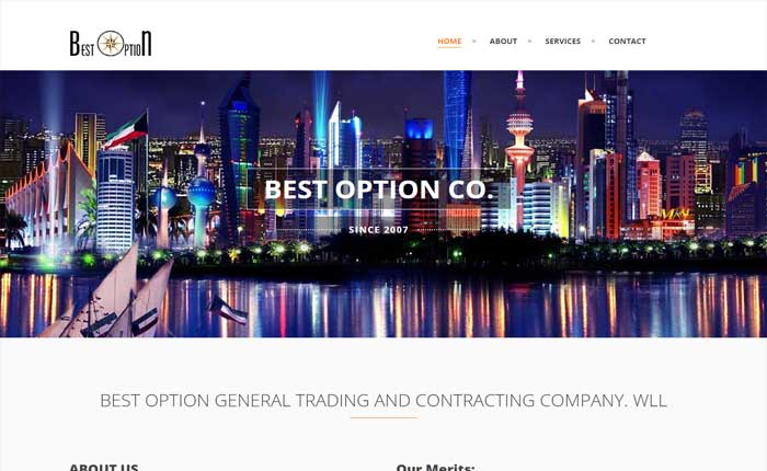 Website for Corporate Company in Kuwait, UAE