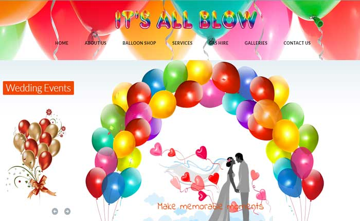 WordPress site for Balloon Hire  - by OneSolution