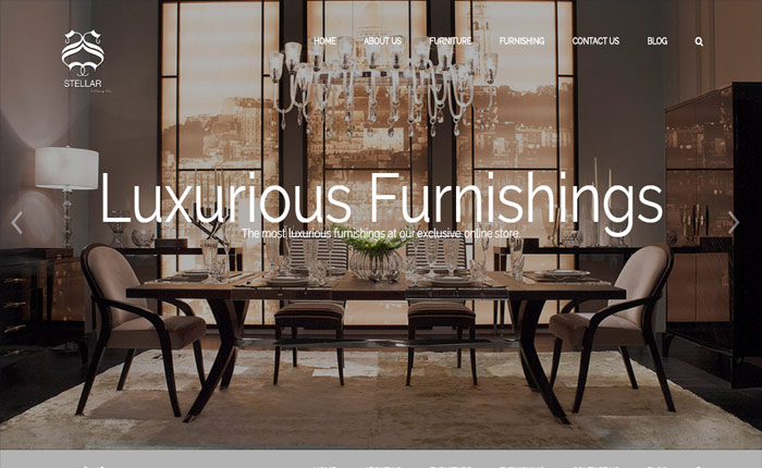 Website for furnishing company